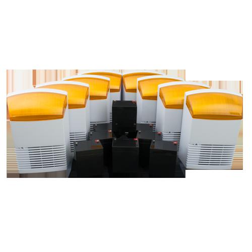 KIT 8 sirene de exterior + 8 acumulatori 12V, 4Ah