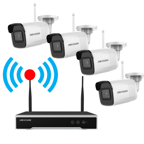Kit supraveghere video wireless, 4 camere 4MP cu NVR 4 canale - HIKVISION
