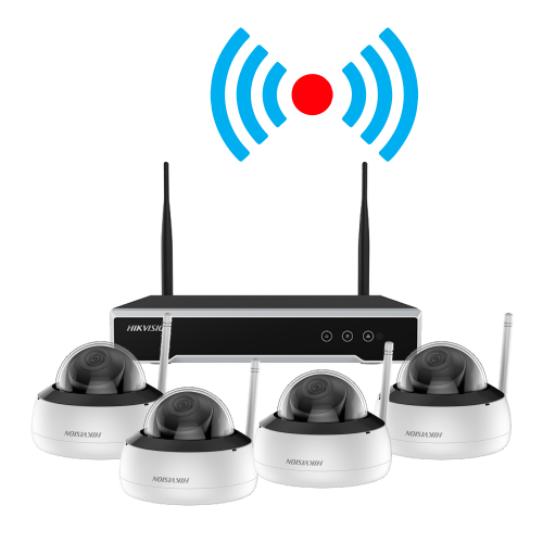 Kit supraveghere video wireless, 4 camere 2MP cu NVR 4 canale - HIKVISION